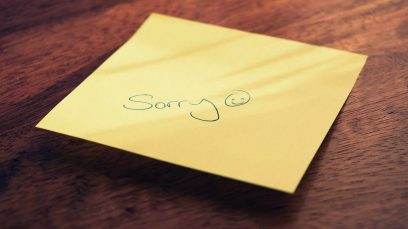 Forgiveness by a note and a smiley face drawn on it